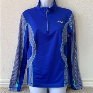 Like new Fila performance running 1/4 zip